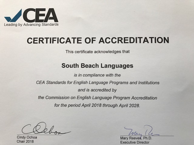 South Beach Languages Receives 10 Year